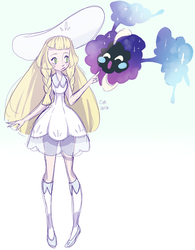 Lillie and Nebby by rringabel