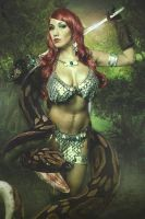 Red Sonja Snake by malcolmflowers