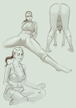yoga poses by Gobtra