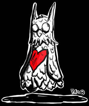 Ghost Owl by StartingAgain