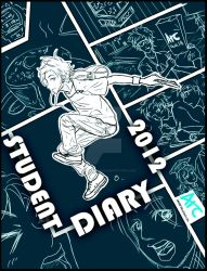UNSW Diary Cover Art Comp 2012 by Cross-x-Dimension
