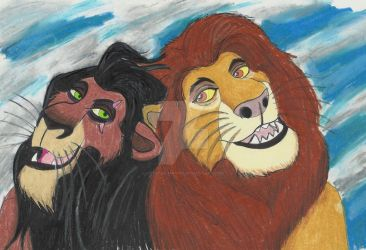 Brothers in Song - Mufasa and Scar by Crystal-Marine