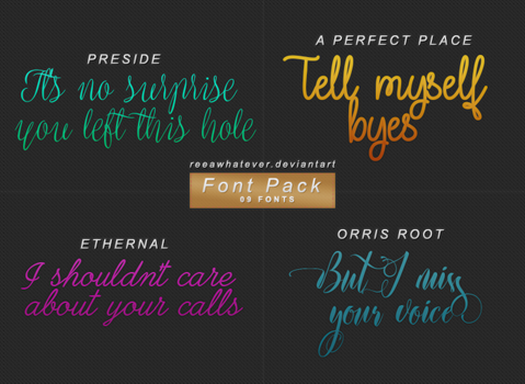 Font Pack 5 - Just Call by reeawhatever