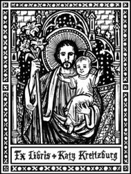 St. Joseph bookplate by Theophilia