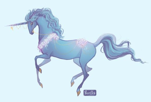 Blue Unicorn by pearlls