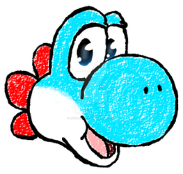 Light Blue Yoshi by Lions-Notice