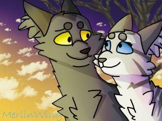 Graystripe And Silverstream by MerlinWingOfficial