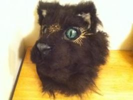 Fibreglass feline mask for sale by RetaredRampage