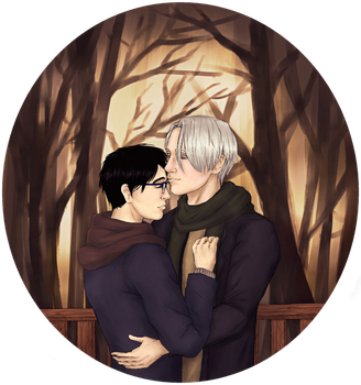 Victuuri - Winter Forest by devilguineapig