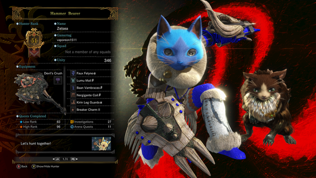 My MHW Guild Card 4 by vaporeon1511