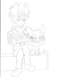 Chilling On The Bench (Sketch) by PiplupSTARSCommander