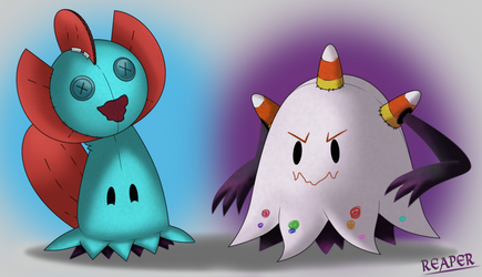 Mimikyu Swap [Muddles and Tricortre] by MeetYourReaper