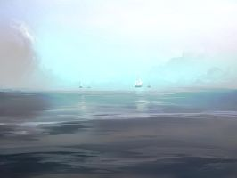 speed painting: Flying Ships by aerroscape