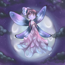 Fairy moon by kumo-e