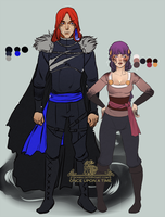 New costumes for Yaroslav and Sif by sionra