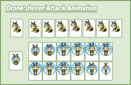Drone Hover and Attack Animation Frames by CWSSoftware