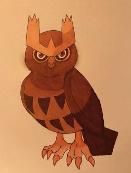 Noctowl by CrystalMoonGazer