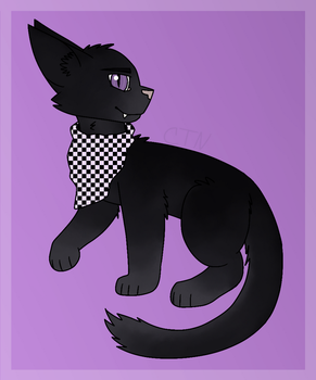 smol liar boi but he is a cat instead by CloudyTheNerd