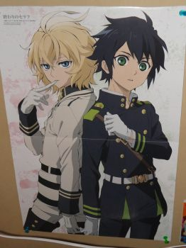 Seraph Of The End Poster - Mika and Yuu by OppaFaustusStyle