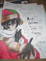 Merry Christmas :lelouch by nejihyuuga23