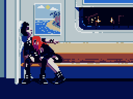Pixel Dailies #Gothic - We Are The Night by randomhuman