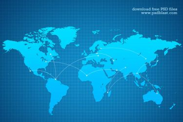 Vector World map background (PSD) by psdblast