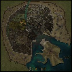 Map: The City of Dir'ht by Karithina