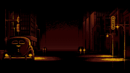 8-bit Adventure Anthology Background - Chicago by Polymental69