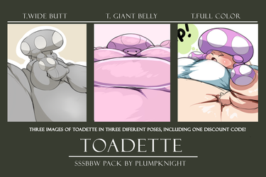 Toadette Sketch Pack #1 by PlumpKnight