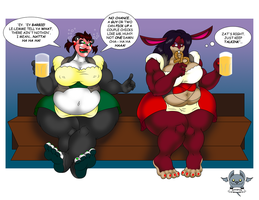 Sarah and Bara on break at Oktoberfest by gamemaster19863