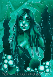 July Copic Colors Underwater Thing by CrystallineColey