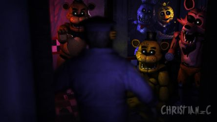 (C4D - FNAF) THE LAST NIGHT OF THE PHONE GUY by christianzc