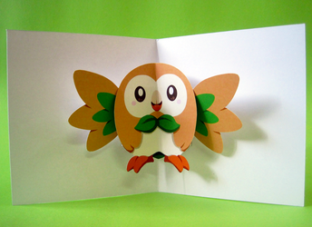 Pop-up Rowlet by endless-whispers