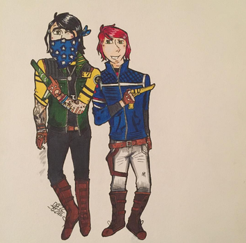Fun Ghoul and Party Poison (MCR) by crystal-fanqs