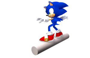 Sonic in Apotos Render by NuryRush