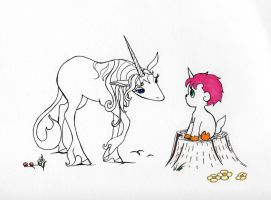 Inktober 2016 Day 18 Unico and the Last Unicorn by Ranasp