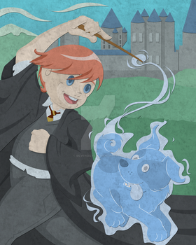 A boy and his patronus by silvereelve