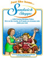 Sandwich Shoppes' Custom Cakes by sethness