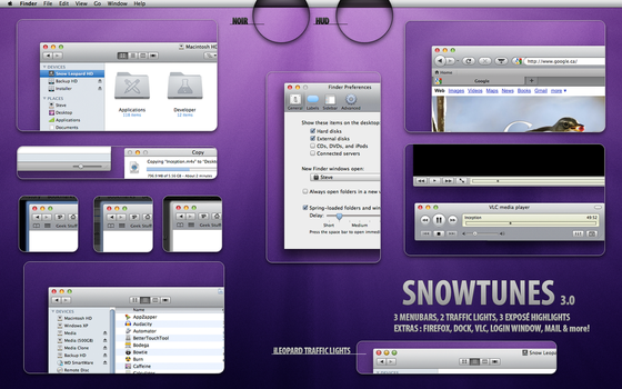 SnowTunes - iTunes OS X theme by cristomac24