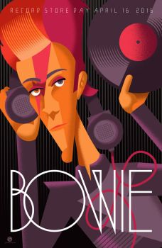Bowie Record Store Day 2016 Print by PaulSizer