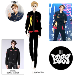 Nct U Lucas Boss Outfit 01 by RyhadInk