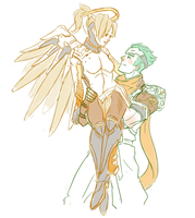 Sketch-MercyxGenji by coolcater96
