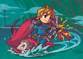 BoTW: Battling the Divine Beast by Snow-the-Wanderer