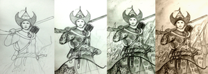 Artwork Commentary 1 - Stages of Drawings by Gambargin