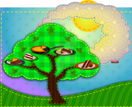 Food Tree Patch by Tigresuave11