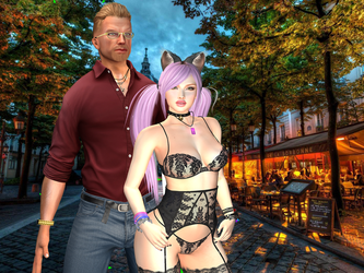 Eric and Morpheen in Paris by Bast-Productions