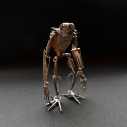 Articulated Watch Parts Creature 'Gadget' by AMechanicalMind