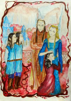 Elrond's Family by RainyBreath