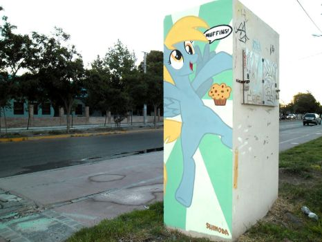 Derpy Hooves Graffiti (Another view) by ShinodaGE