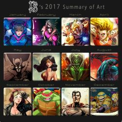 2017 Summary art by Fpeniche